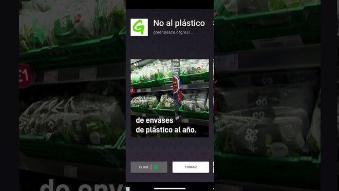 Greenpeace presiona a los supermercados para que dejen de plastificar los alimentos