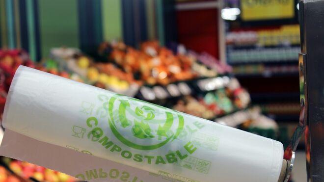 Vegalsa-Eroski extiende las bolsas compostables a toda su red de tiendas