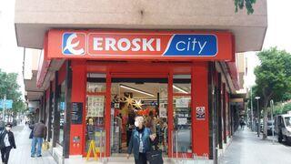 Entrada a un supermercado Eroski City