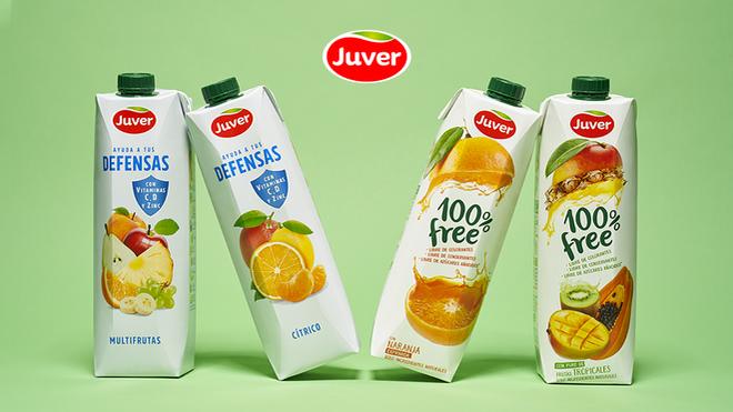Juver Alimentación lanza su nueva línea de zumos Juver Defensas y amplía su gama 100% Free