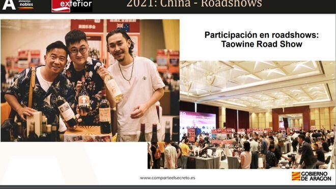 Los vinos aragoneses se promocionan en la red social china WeChat