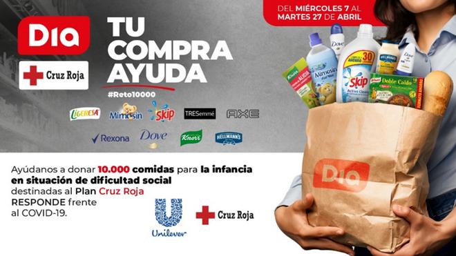 Unilever y Dia ayudarán con 10.000 comidas a niños en situación de vulnerabilidad
