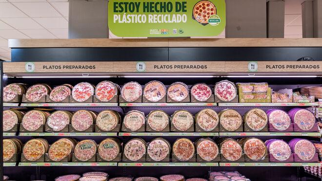 Mercadona cambia el envase de las pizzas refrigeradas de Hacendado