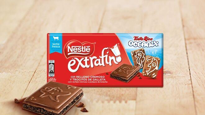 Nestlé lanza una nueva tableta de chocolate con galleta Tosta Rica Oceanix