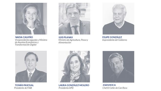 Luis Planas, Nadia Calviño, Joan Roca y Felipe González participarán en el VIII Madrid Food & Drink Summit