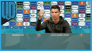"El gol de Cristiano Ronaldo a Coca-Cola: ""Prefiero agua"""