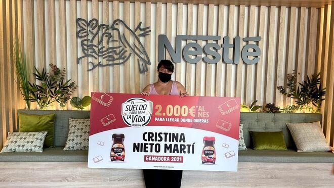 Cristina Nieto Martí, ganadora del 'Sueldo para toda la vida' 2021 de Nescafé