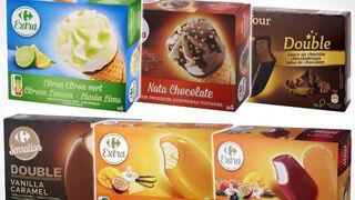 Carrefour retira lotes de 29 helados de su marca por contener óxido de etileno