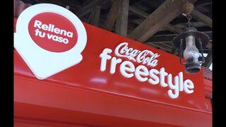 Coca-Cola instala un dispensador de bebidas en Parque Warner pionero en España