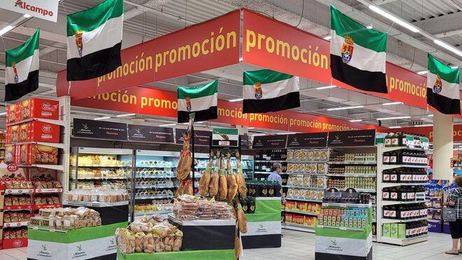 Alcampo promociona los alimentos de Extremadura en Madrid