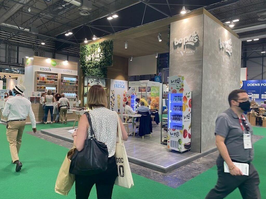 Vicky Foods y su stand de Be Plus en Organic Food Iberia 2021