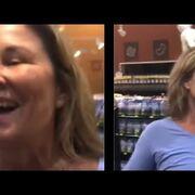 Una mujer tose a propósito sobre otras personas en un supermercado de Nebraska