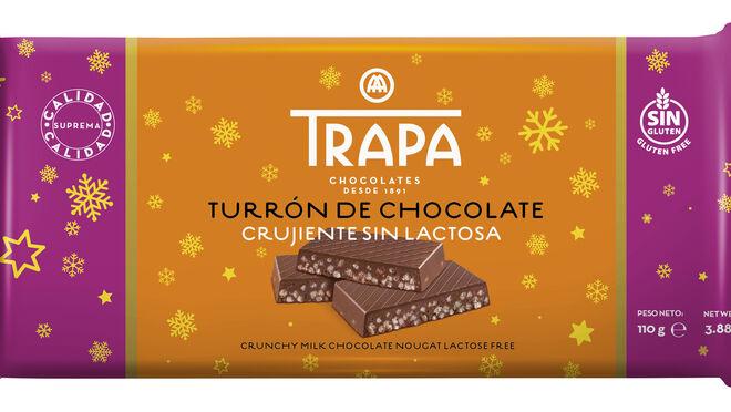 Chocolates Trapa lanza el primer turrón crujiente sin lactosa
