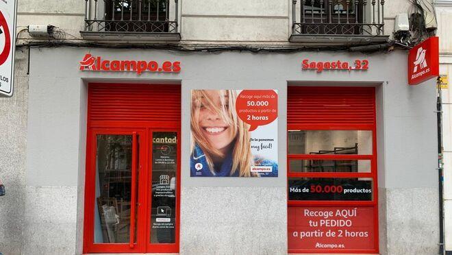 Alcampo abre en Madrid su primer punto de recogida de compra online