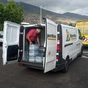 Hiperdino ayuda a las víctimas del volcán de La Palma