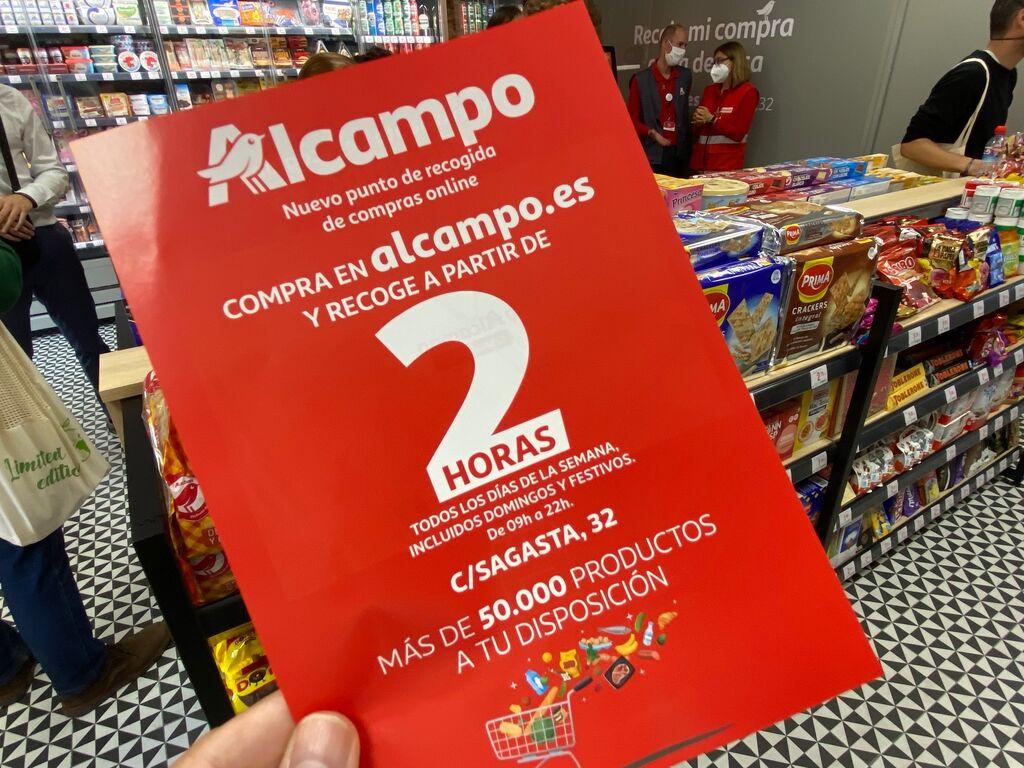 Folleto de Alcampo, 50.000 productos a partir de 2 horas