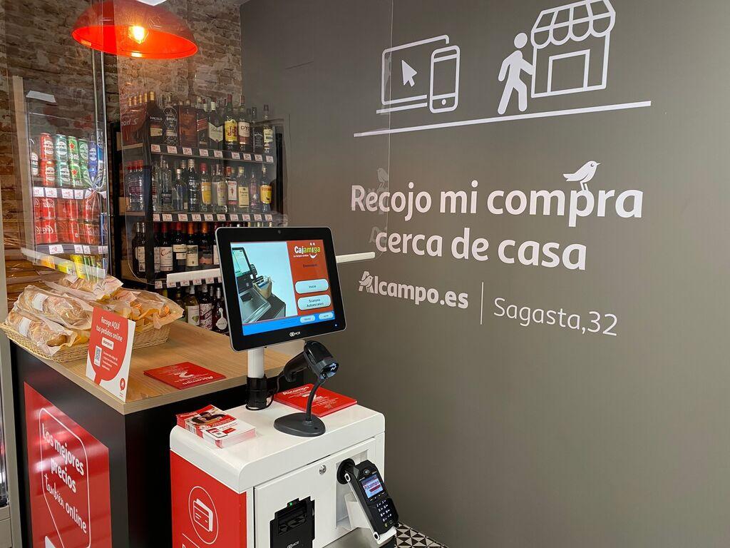 Mini mostrador para la operativa de recogida de las compras online y compra física siempre con tarjeta