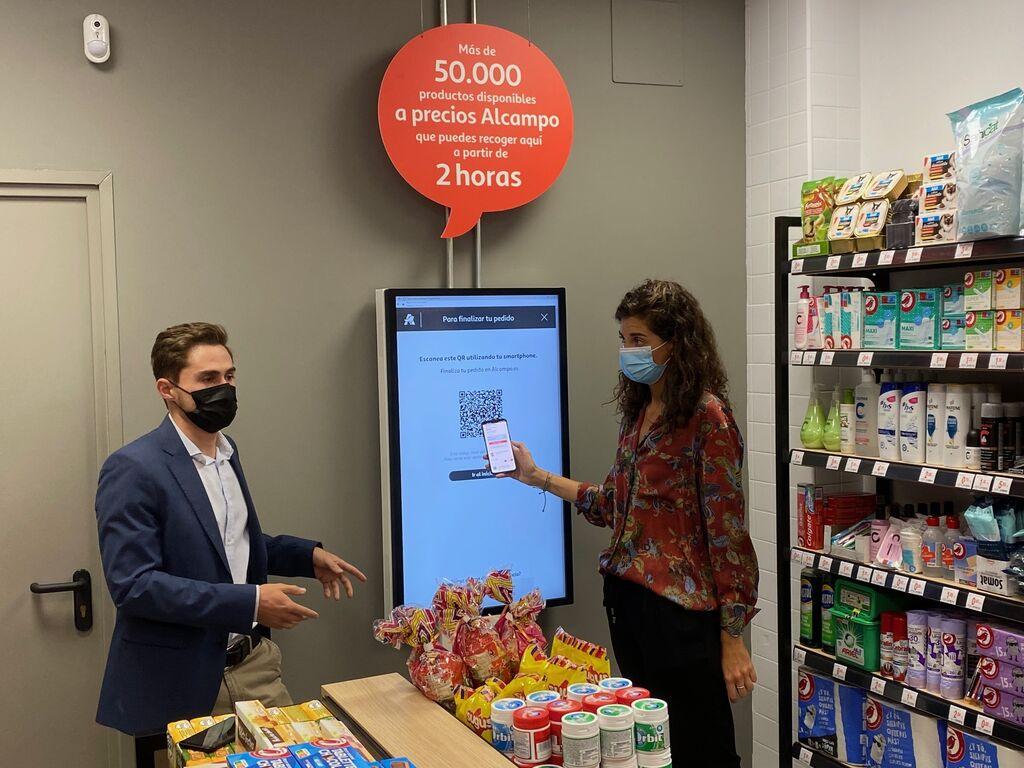 En esta pantalla el cliente puede elegir los productos. Genera un código QR para cerrar la compra en el móvil.
