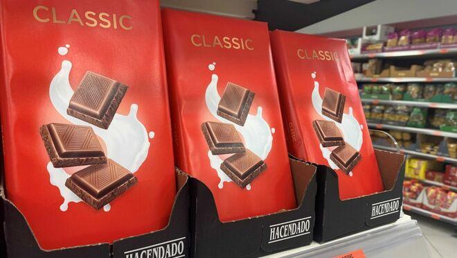 Mercadona refuerza el lineal de tabletas de chocolate